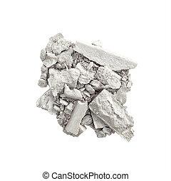 Silver eyeshadow isolated - Crushed eyeshadow in silver...