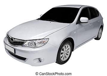 silver fast car