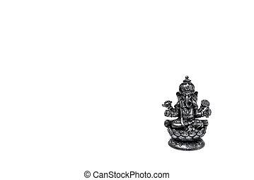 Silver figurine of the Hindu deity Ganesh
