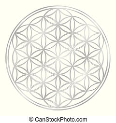 Silver Flower Of Life