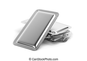 Silver foil sachets for for food, drinks, drugs, cosmetics...