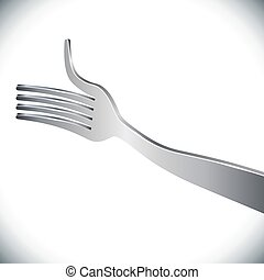 Silver fork giving a thumb-up concept