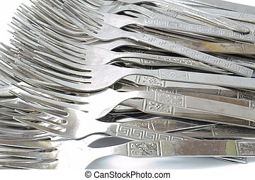 Silver Forks close up