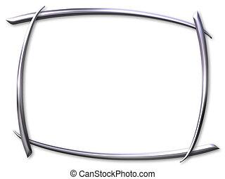 Silver frame - Silver curved frame