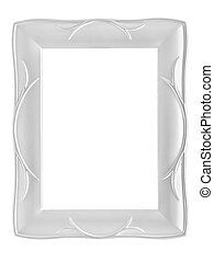 Silver frame isolated on white