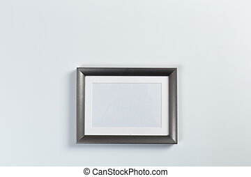 silver frame on white