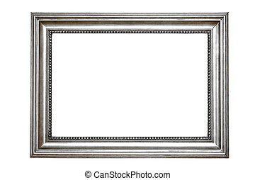 Silver frame - Retro silver frame with clipping path...