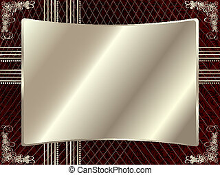 Silver frame with floral elements 5