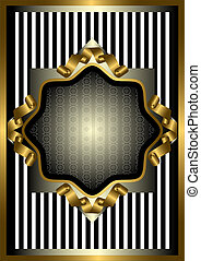 Silver frame with gold decor on str