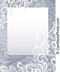 Silver frozen background