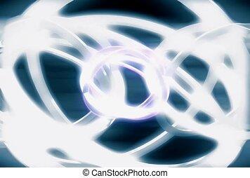 Silver Geometric Swirls