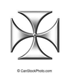 Silver German Cross