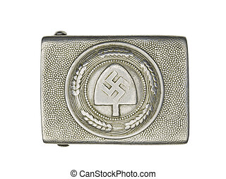 silver german military belt buckle - Close-up shot of a...