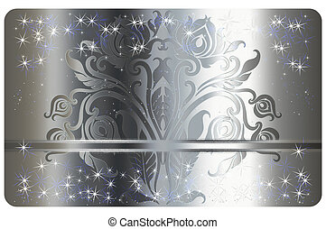 Silver gift card template.