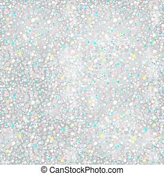 Silver Glitter Background - seamless texture - in vector