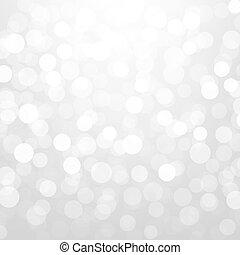 Silver Glitter Bokeh