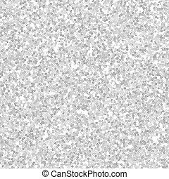 Silver glitter texture seamless pattern, sparkle vector background