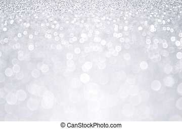 Silver Glitter Winter Christmas Background - Abstract silver...