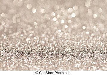 festive abstract glitter bokeh background - Silver...
