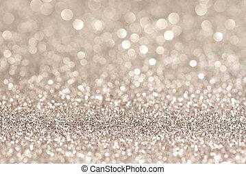 festive abstract glitter bokeh background - Silver...