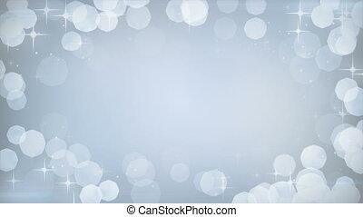silver glitters frame festive loop