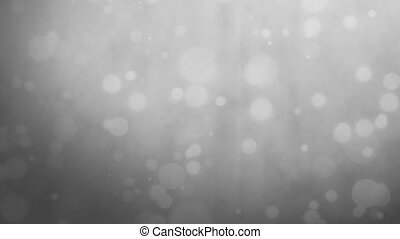 Silver gray background with floating particles - Abstract...