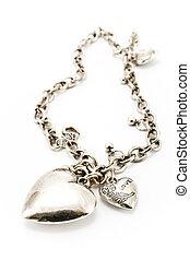 silver, halsband