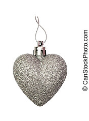 Silver heart for Christmas decoration