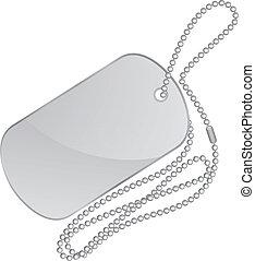 silver identity tag