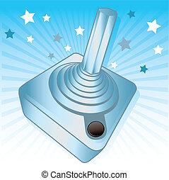 Silver joystick gamers award vector illustration