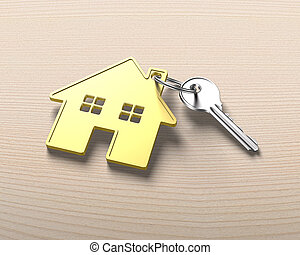 Gold house safe isolated on white background stock photo Search