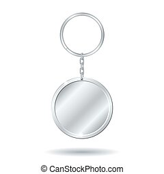 silver keychain circle shape