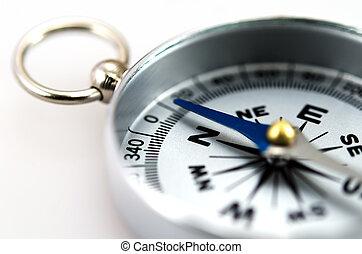 silver, kompass