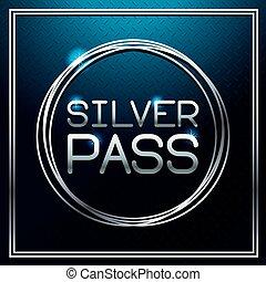 silver, kort, passera