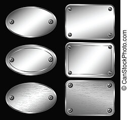 Silver Labels - Nameplates