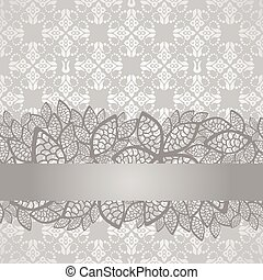Silver lace border on wallpaper