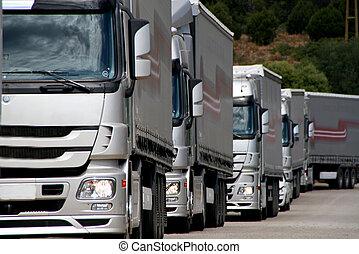 silver, lastbilar