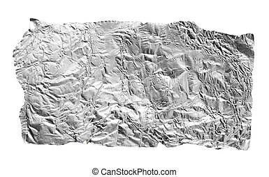 silver leaf on a white background