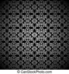 Silver leaf wallpaper