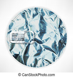 Silver lid Isolated on White Background