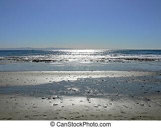Beach in silver light near Santa Barbara, California, USA