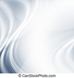 Silver light gradient background with waves