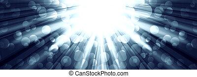 silver light spotlights on a dark background