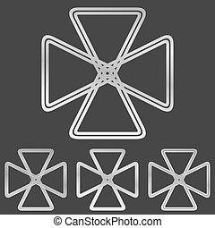 Silver line loop logo design set