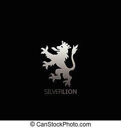Silver lion symbol