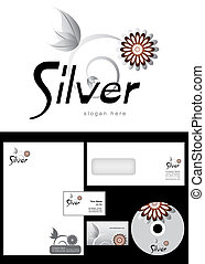 Silver Logo Design and corporate identity package including...