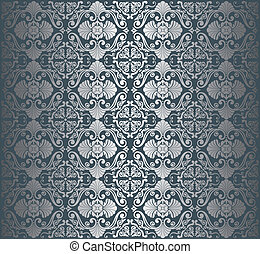 Silver luxury vintage wallpaper