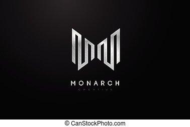 Silver M Logo. M Letter Icon Design Vector