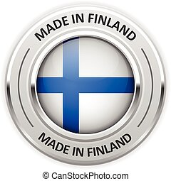 Silver medal Made in Finland