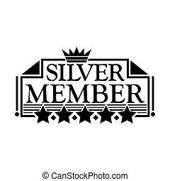 Silver member Icon. Flat design